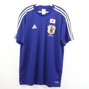 Adidas Japan world Cup Soccer Jersey Blue Medium